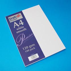 CraftUK Premium -paperi, valkoinen, 120 gsm, 100 arkkia