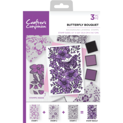 Crafter's Companion Background Layering -leimasinsetti Butterfly Bouquet