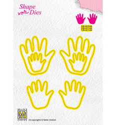 Nellie's stanssi 3 x Baby Hands