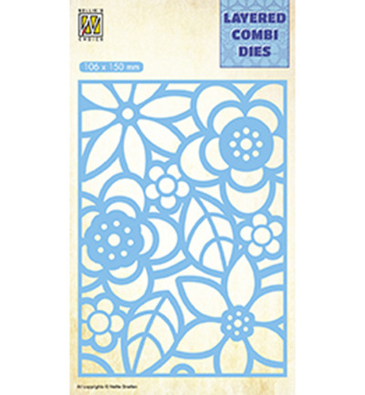 Nellie's Choice Layered Combi stanssi Flowers 2 B