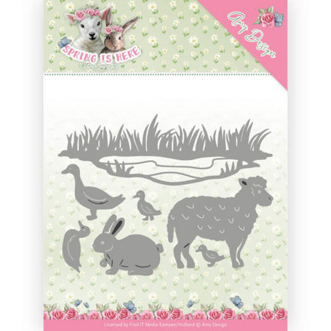 Amy Design Spring Is Here stanssisetti Spring Animals