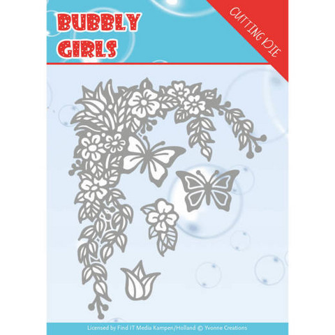 Yvonne Creations Bubbly Girls stanssisetti Flower Corner