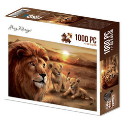 Amy Design palapeli Lion with cubs, 1000 palaa
