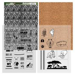 Amy Design Wild Animals 2 paperipakkaus Zebra
