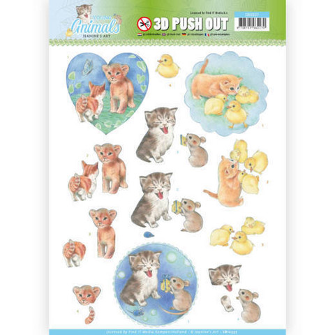 Jeanine's Art Young Animals 3D-kuvat Kittens