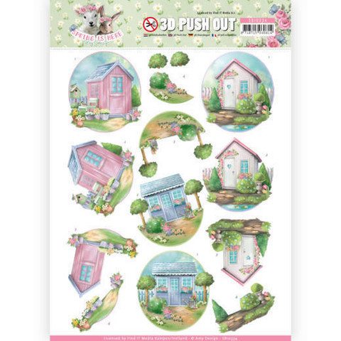 Amy Design Spring is Here 3D-kuvat Garden Sheds