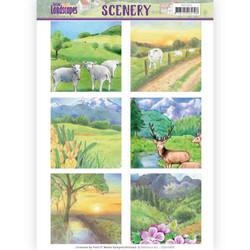 Jeanines Art Spring Landscapes korttikuvat Spring Landscapes 2