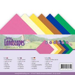Jeanines Art Spring Landscapes kartonkipakkaus, A5