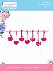 Dress My Craft stanssi Hanging Hearts