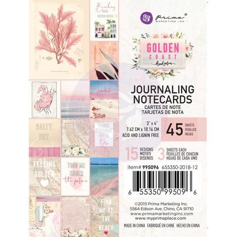 Prima Golden Coast Journaling Notecards,  3