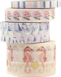 Prima Golden Coast Decorative Tape -teipit, 4 kpl