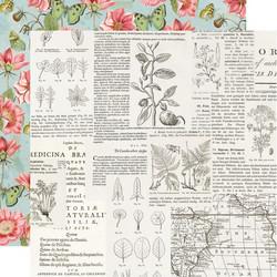 Simple Stories Simple Vintage Botanicals skräppipaperi Beautiful Day