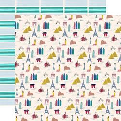 Carta Bella Let's Travel skräppipaperi Landmarks