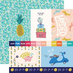 Carta Bella Let's Travel skräppipaperi 4