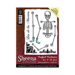 Sheena Douglass Day of the Dead kumileimasin Dancing Skeleton