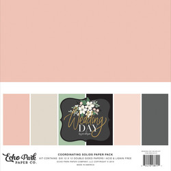 Echo Park Wedding Day Solids -paperipakkaus, 12
