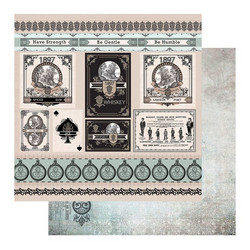 Couture Creations skräppipaperi Gentleman's Emporium #12