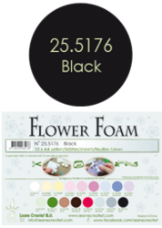 Leane Creatief Flower Foam -softislevy kukkien tekoon, black