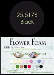 Leane Creatief Flower Foam -softislevy kukkien tekoon, black