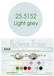 Leane Creatief Flower Foam -softislevy kukkien tekoon, light grey
