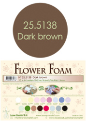 Leane Creatief Flower Foam -softislevy kukkien tekoon, dark brown