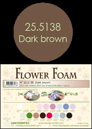 Leane Creatief Flower Foam -softislevy kukkien tekoon, dark brown