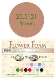 Leane Creatief Flower Foam -softislevy kukkien tekoon, brown