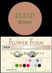 Leane Creatief Flower Foam -softislevy kukkien tekoon, brown