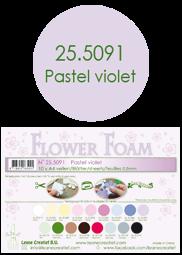 Leane Creatief Flower Foam -softislevy kukkien tekoon, pastel violet