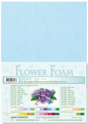 Leane Creatief Flower Foam -softislevy kukkien tekoon, light blue