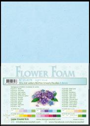 Leane Creatief Flower Foam -softislevy kukkien tekoon, light blue