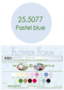 Leane Creatief Flower Foam -softislevy kukkien tekoon, pastel blue