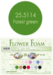 Leane Creatief Flower Foam -softislevy kukkien tekoon, forest green