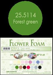 Leane Creatief Flower Foam -softislevy kukkien tekoon, forest green