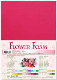Leane Creatief Flower Foam -softislevy kukkien tekoon, red
