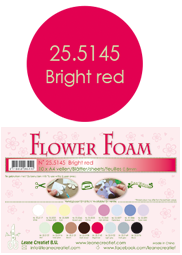 Leane Creatief Flower Foam -softislevy kukkien tekoon, bright red