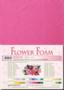 Leane Creatief Flower Foam -softislevy kukkien tekoon, bright pink