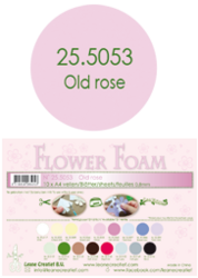 Leane Creatief Flower Foam -softislevy kukkien tekoon, old rose