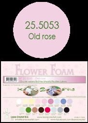 Leane Creatief Flower Foam -softislevy kukkien tekoon, old rose