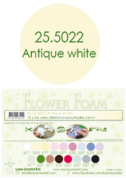 Leane Creatief Flower Foam -softislevy kukkien tekoon, antique white