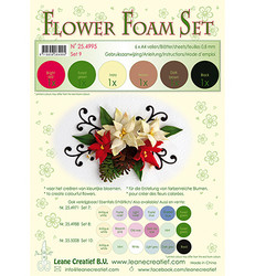 Leane Creatief Flower Foam -softislevy kukkien tekoon, setti 9 brown - red - green