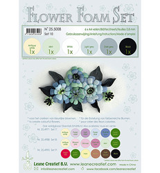 Leane Creatief Flower Foam -softislevy kukkien tekoon, setti 10 black - grey
