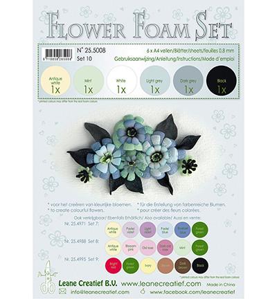 Leane Creatief Flower Foam -softislevy kukkien tekoon, setti 10 black - grey