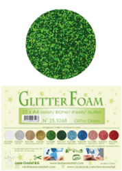 Leane Creatief Glitter Foam -softislevy, green