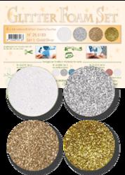 Leane Creatief Glitter Foam -softislevy, setti 1