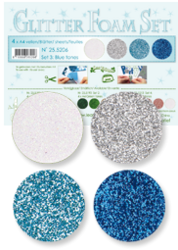 Leane Creatief Glitter Foam -softislevy, setti 3