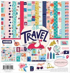 Carta Bella Let's Travel -paperipakkaus, 12