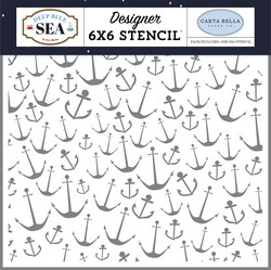 Carta Bella sapluuna Nautical Anchors