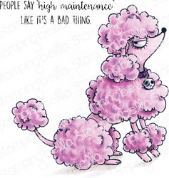 Stamping Bella Oddball Poodle -leimasinsetti