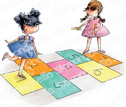 Stamping Bella Playing Hopscotch -leimasinsetti